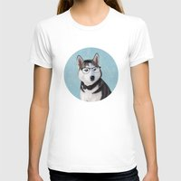 husky T-shirts featuring Mr Husky by Roberta Jean Pharelli