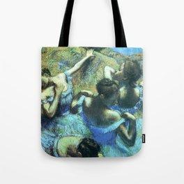 Blue Dancers by Edgar Degas Tote Bag