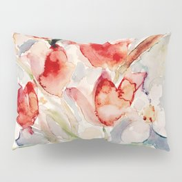 Tulips and Narcissi for Easter Pillow Sham