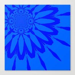 The Modern Flower Blue on Blue Canvas Print