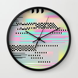 Glitch art effect Wall Clock