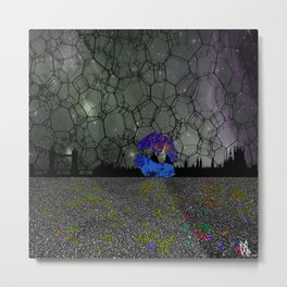 Space skyline Metal Print