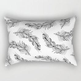Boho Feathers II Rectangular Pillow