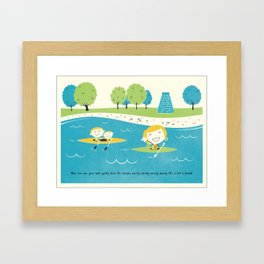 Row Row Row Framed Art Print