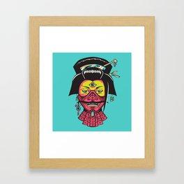Samurai Geisha Framed Art Print