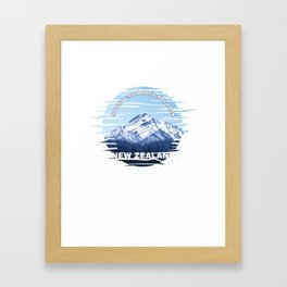 Hikers Camping Traveling Mountaineering Mount Cook National Park New Zealand Gift Framed Art Print