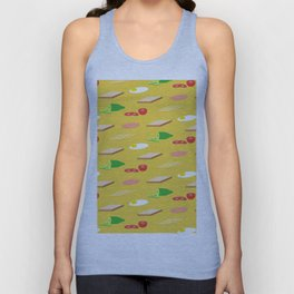 Breakfast Pattern Unisex Tank Top