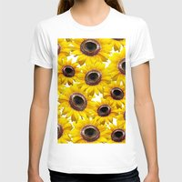 sunflowers T-shirts featuring Sunflowers by Regan's World