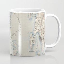 Vintage Map of The Narragansett Bay (1888) Coffee Mug