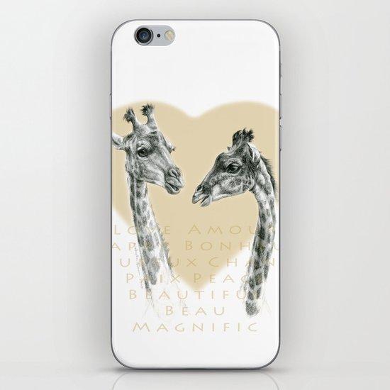 Giraffes love G055bis iPhone & iPod Skin
