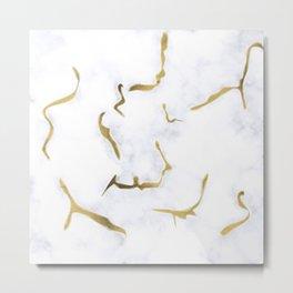 White Gold Marble Background #society6 #decor #buyart #artprint Metal Print