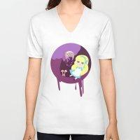 wonderland V-neck T-shirts featuring Wonderland by Juliana E. Gonzalez