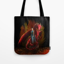 Queen of the Dragon Tote Bag