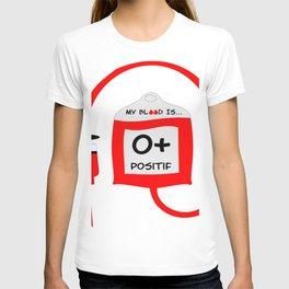 Blood O positif T-shirt