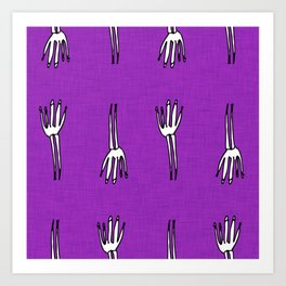 Skeletal Hand Purple #Halloween Art Print