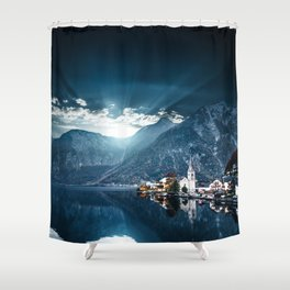 hallstatt in austria Shower Curtain