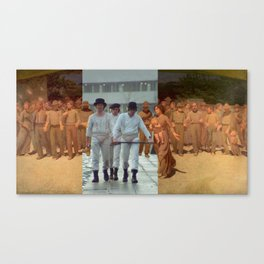 Pellizza's Il quarto stato & Kubrick Canvas Print