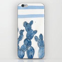 Blue rainbow cactus iPhone Skin