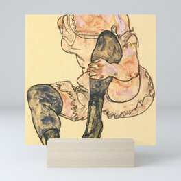 "Egon Schiele ""Seated Woman With Bent Left Leg (Torso)"" Mini Art Print"