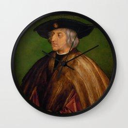 Albrecht Durer - Portrait Of Maximilian I Wall Clock