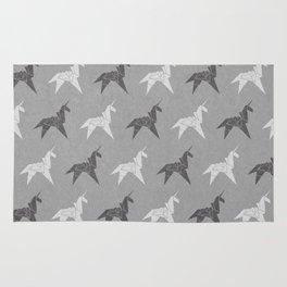 Origami Unicorn Grey Rug