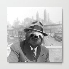 Sloth in New York Metal Print