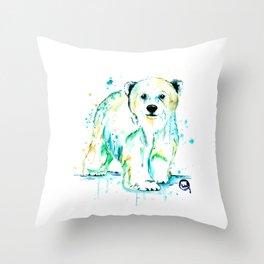 Polar Bear Baby Throw Pillow
