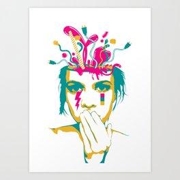 Liquid thoughts:Girl Art Print