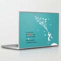 le petit prince Laptop & iPad Skins featuring LITTLE PRINCE -Le petit prince- art poster by Chara Anagnostopoulou