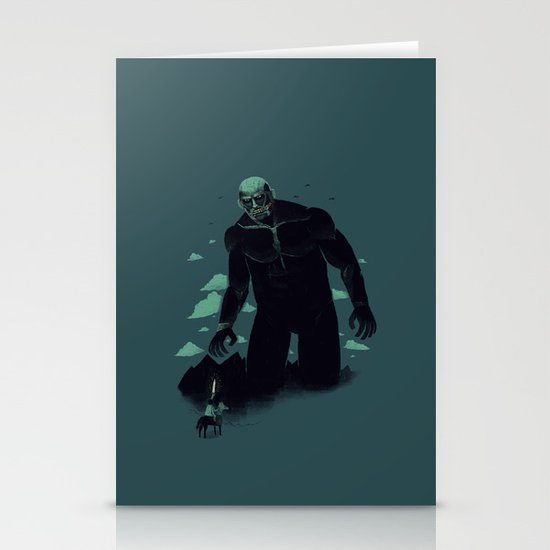 shadow of the titan Stationery Cards