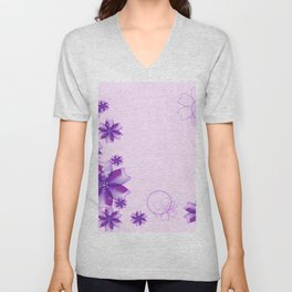 Spring Background Unisex V-Neck