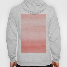 Touching Living Coral Watercolor Abstract #1 #painting #decor #art #society6 Hoody