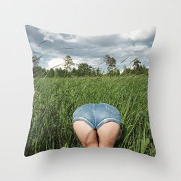 Asscape Throw Pillow