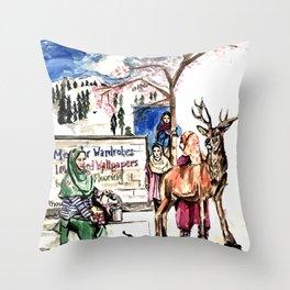 A piece of Kashmir Throw Pillow