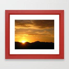 Solstice Sunrise Framed Art Print