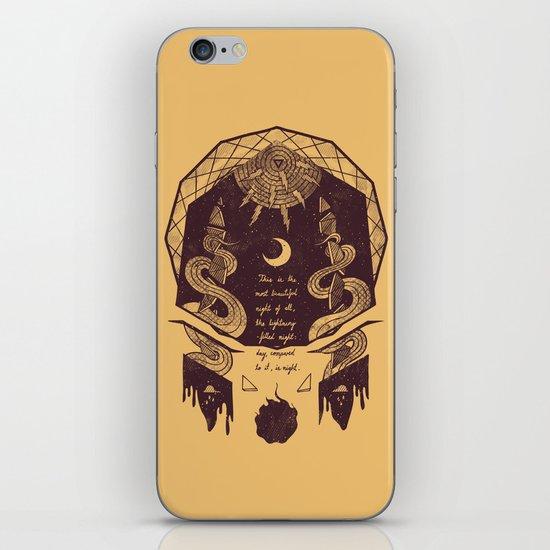 The Lightning Filled Night iPhone & iPod Skin