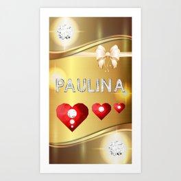 Paulina 01 Art Print