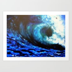 Mesmerizing Waves Art Print
