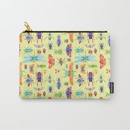 Beautiful Beetles on Yellow Carry-All Pouch