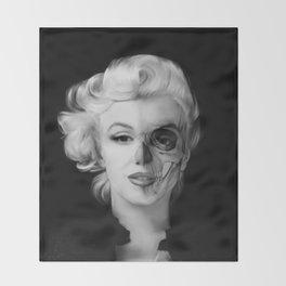Dead Celebrities Series Half Skull Throw Blanket