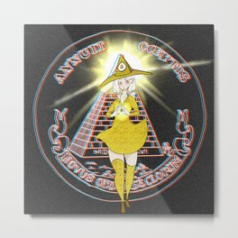 Illuminati - The Illuminati Witch Metal Print