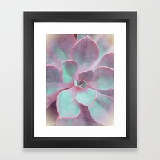 Pastel Succulent Framed Art Print