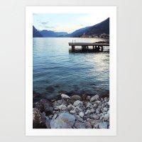 Shores of Lake Garda Art Print