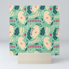 Bear Pattern 003 Mini Art Print
