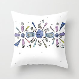 geometric flower crown Throw Pillow