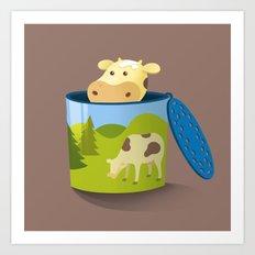 The moo box Art Print
