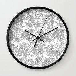 Pegasus Pattern Grey Wall Clock