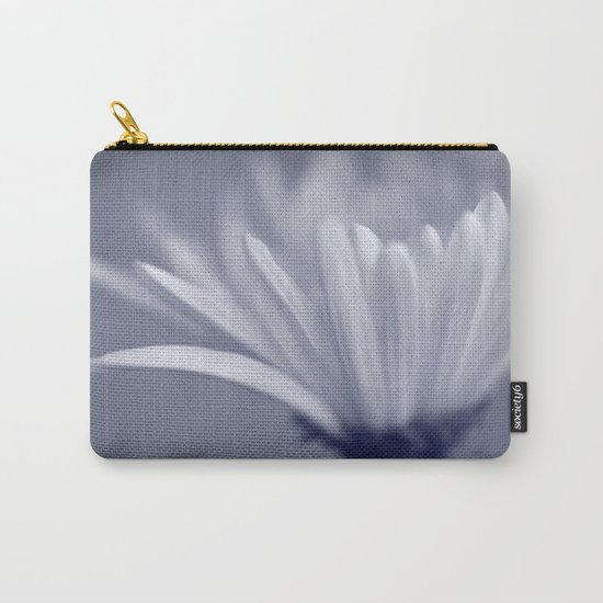White Flower Macro Carry-All Pouch