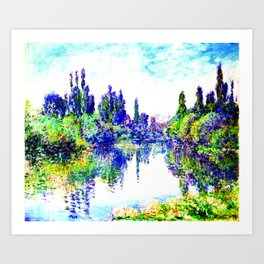 Claude Monet - Morning on the Seine, near Vetheuil 1878 Art Print