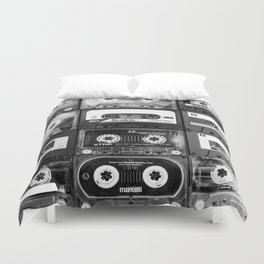Something Nostalgic - black and white #decor #buyart #society6 Duvet Cover